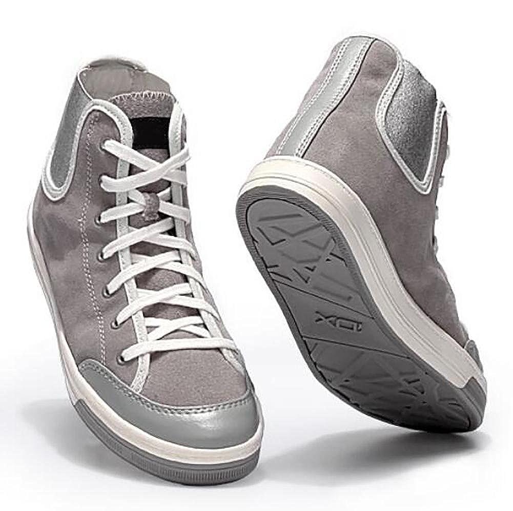 Damen Britischen Suede Handgefertigte Outdoor-Freizeit High Top Sneakers Schuhe Outdoor-Freizeit Handgefertigte Schwarz Rot Grau 05977f