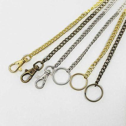 3 9 conjuntos giratorio mosquetón Snap Llavero Cadena de 18 cm para anillo Clip de dinero en efectivo cartera oro bronce de níquel
