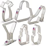 Ladies Night Out /Bachelorette Party Cookie Cutter Set - 6 piece - Ann Clark - Tin Plated Steel
