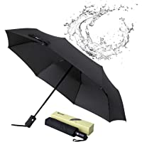 Glamore Travel Umbrella, Compact Travel Umbrella Windproof Travel Umbrella Folding Umbrella Sports Golf Umbrellas Auto Open/Close Umbrellas
