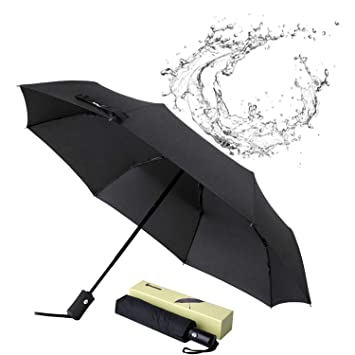 386babc25286 Glamore Travel Umbrella, Compact Travel Umbrella Windproof Travel Umbrella  Folding Umbrella Sports Golf Umbrellas Auto Open/Close Umbrellas