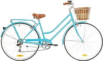 Reid Bicicleta para mujer retro vintage 7 marchas 28, 52 cm Marco, Vintage 7-speed, hellblau (baby blue): Amazon.es: Deportes y aire libre