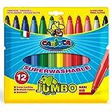 CARIOCA 意大利原装超级可水洗水彩笔(JUMBO 12色粗杆水彩笔)(进)