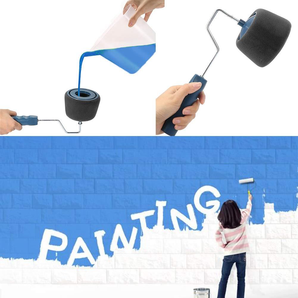 Kit de Rouleau /à Peinture et Poign/ée Extensible NewPI Rouleau de Peinture Multifonctionnel Rouleau Peinture avec Reservoir pour la Maison et le Bureau Paint Runner Paint Roller