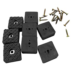 Btibpse Rubber Feet Pads Non Slip Non Skid Legs Pad for Table Desk Chair and Sofa 20 PCS (Black Square 30mm)