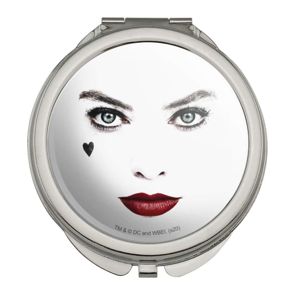 Amazon Com Birds Of Prey Harley Quinn Red Lips Compact Travel Purse Handbag Makeup Mirror Beauty