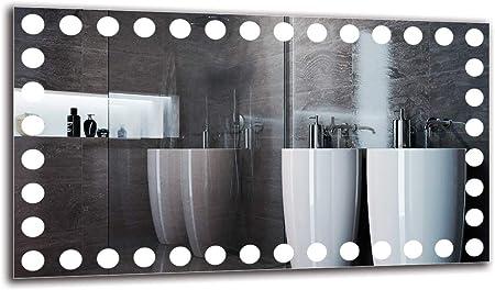 ARTTOR M1CP-27-40x40 Miroir Mural Blanche Chaude 3000K Taille du Miroir 40x40 cm Pr/êt /à laccrochage Miroir de Salle de Bain Miroir avec /éclairage Miroir Lumineux Miroir LED Premium