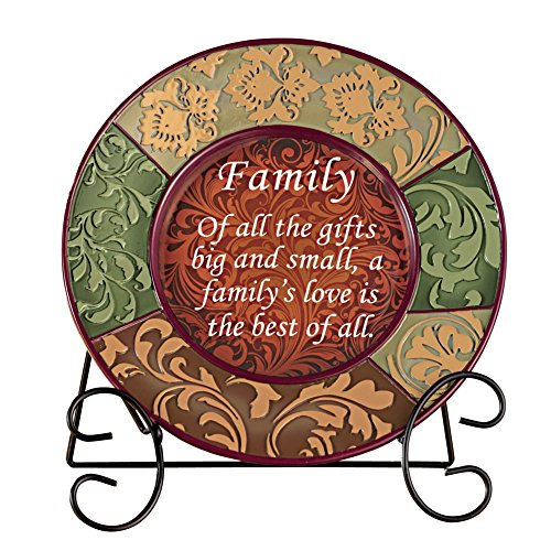 decorative-inspirational-plate-with-display-stand-family