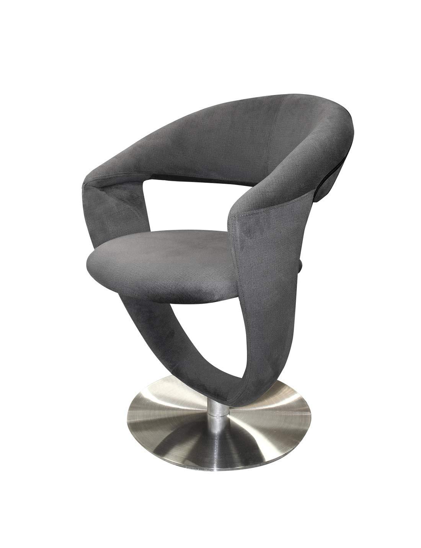 Meubletmoi - Silla giratoria de diseño de Tejido Gris Suave ...