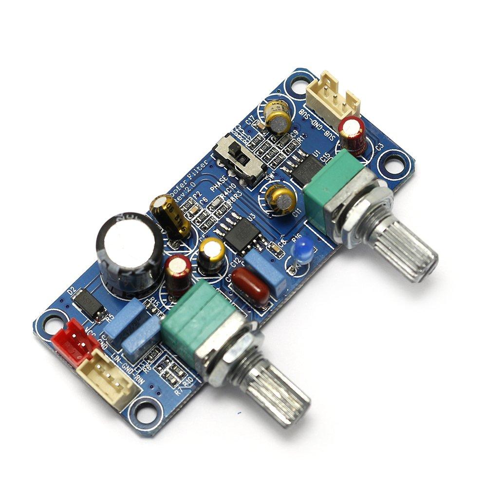 Q-BAIHE DC alimentatore a singola alimentazione 9v-32v scheda frontale subwoofer a scheda di filtro passa-basso con zoom e regolazione della fase YEJ-LOW-PASS-9-32V/EU
