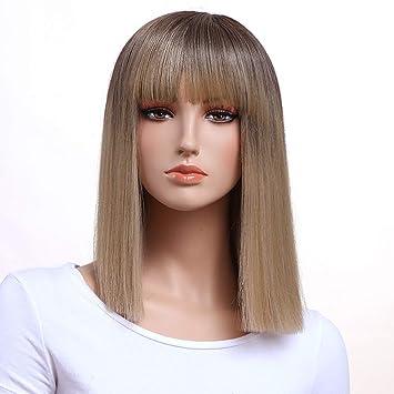 Amazon Com Gotta Bleach Blonde Bob Short Medium Length Wigs For