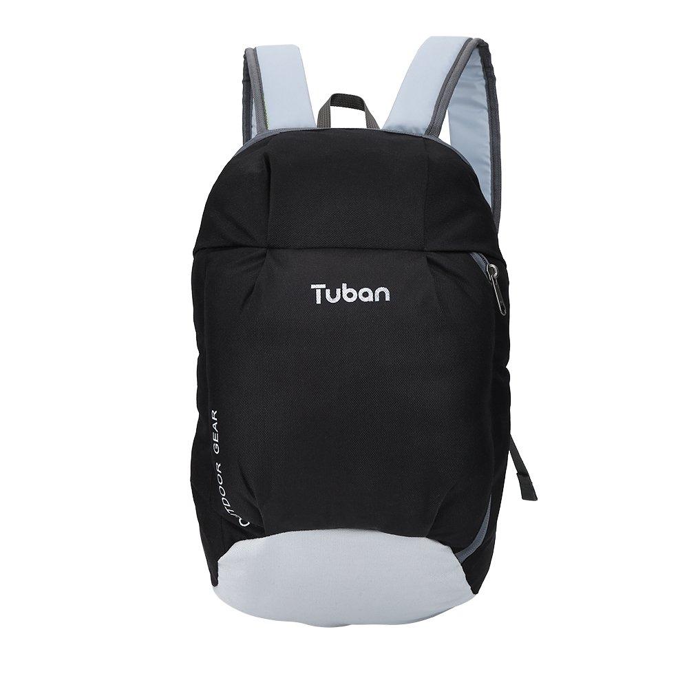 alomejor防水バックパック、ユニセックスアウトドアスポーツ肩バッグ旅行バッグ  ブラック&グレー B07FGD21XC