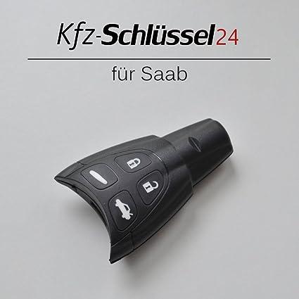 Saab Llave para coche con 4 botones 93 95 96, carcasa para mando a distancia