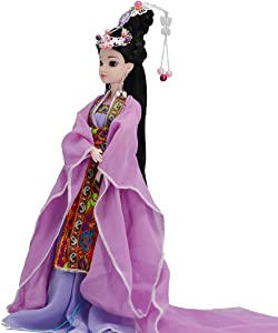 Doll, Oriental Decor, Chinese Doll with Beautiful Dress and Unique Hairstyle, Interior Doll for Room Decor, Gift
