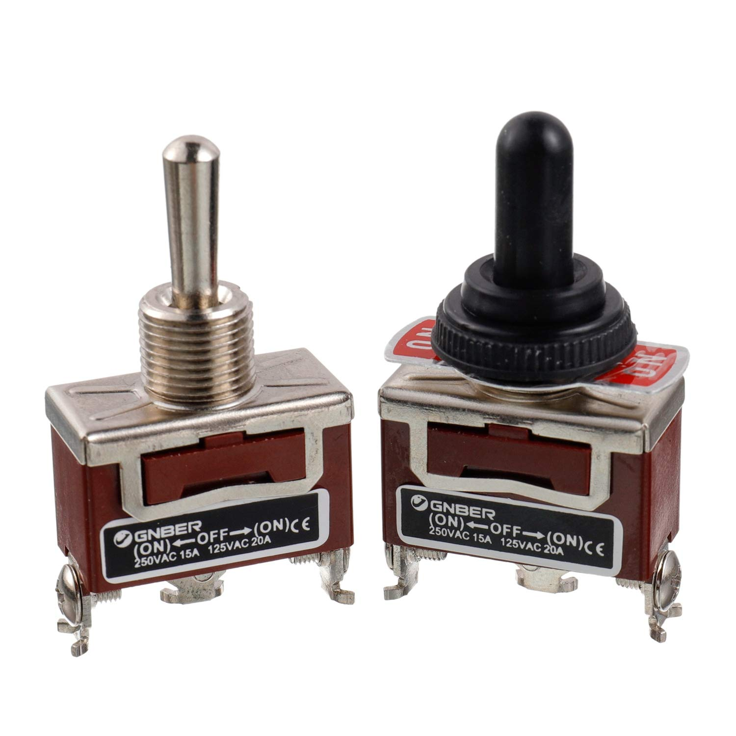 2PCS 6PIN ON-OFF-ON Toggle Switch 15A Screw Termianls MOMENTARY  water proof