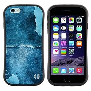 "Pulsar iFace Series Tpu silicona Carcasa Funda Case para Apple Iphone 6 Plus / 6S Plus ( 5.5 ) , Pintura azul del arte de la acuarela del acantilado Naturaleza"""