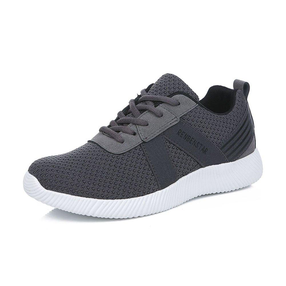 YIXINY Schuhe 1172511116 Frühling Und Herbst Mode Vibrationsdämpfende Atmungsaktive Outdoor Sportschuhe Herrenschuhe ( Farbe : Grau   größe : EU42/UK8.5/CN43 )