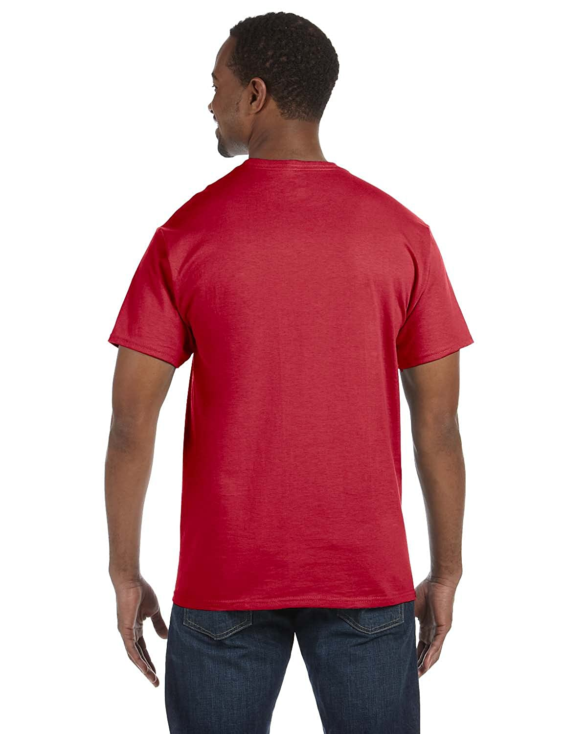 Jerzees Big Mens 50//50 Cotton//Poly Pocket T-Shirt