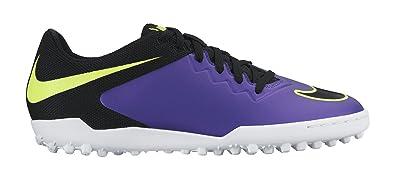 9168644aa68e Nike Men's Hypervenomx Pro Tf Hyper Grape, Black, Volt and White Sport  Running Shoes