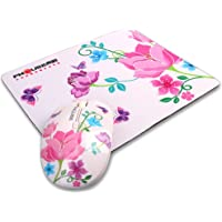 Glantop Flower Optical Portable Wireless Mouse with Nano Receiver and Mouse Pad (3 in 1 Set)