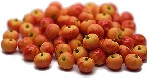 20 Fake Apple Red Gala Size 0.8 cm Dollhouse Miniature Kitchen Food Supply