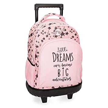 Roll Road Dreams Pink Mochila Escolar, 43 cm, 28.9 litros, Rosa: Amazon.es: Equipaje