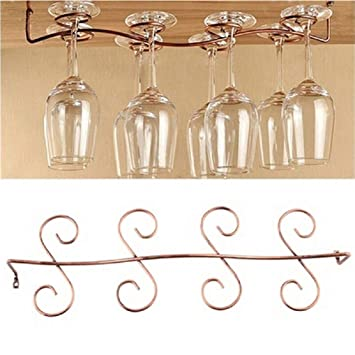 Glashalter Weinglashalter für Küche Bar Gläserschiene Gläserregal Weinglashalter