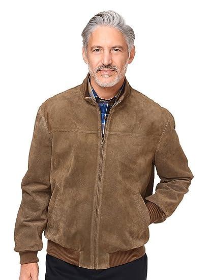 latest style of 2019 hot-seeling original choose genuine Paul Fredrick Men's Perforated Suede Bomber Jacket Tan at ...