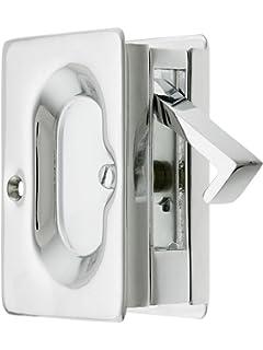 Incroyable Premium Quality Mid Century Pocket Door Passage Set In Polished Chrome