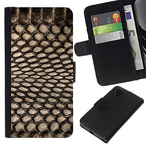 KLONGSHOP // Tirón de la caja Cartera de cuero con ranuras para tarjetas - Patrón Spots Textil Negro netas - LG Nexus 5 D820 D821 //