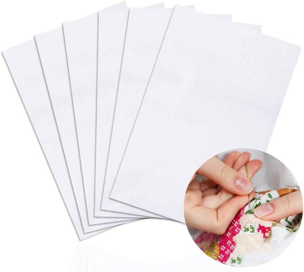 6 Pieces Classic Reserve Aida Cloth Cross Stitch Cloth 12 by 18-Inch DaKuan 11 Count Cross Stitch Fabric White