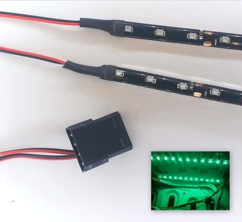 Molex 40cm 18 LED x 2-30Cm Strisce Verde Brillante Top LED LED Modding PC Custodia Kit per la Luce