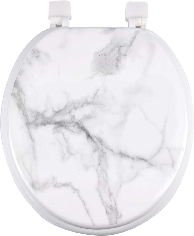 abbattant wc charnieres plastique 37 x 47 cm mdf imprime marbre