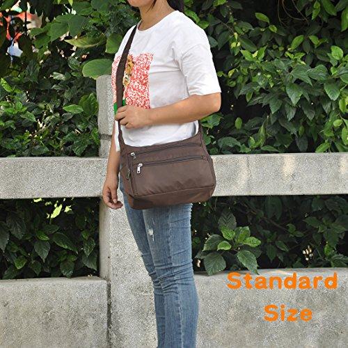 Coffe Waterproof Shoulder Messenger Lightweight Rock Bags Nylon Crossbody Handbags Pocket Bags standard Multi Volcanic qp7zn