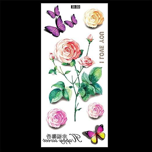 zgmtj Etiqueta engomada Luminosa del Tatuaje del Color 3D 19 90 ...