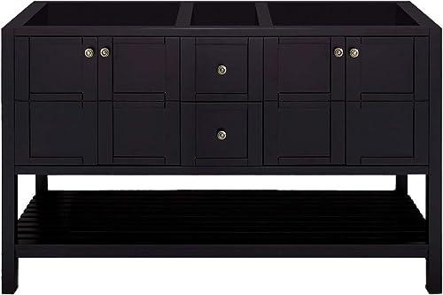 Virtu USA ED-30060-CAB-ES Winterfell Bathroom Vanity, 60 inches, Dark Espresso