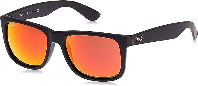 Rayban Justin RB4165 - Gafas de sol Unisex, Negro (Rojo 622/6Q), 55 mm: Amazon.es: Ropa y accesorios