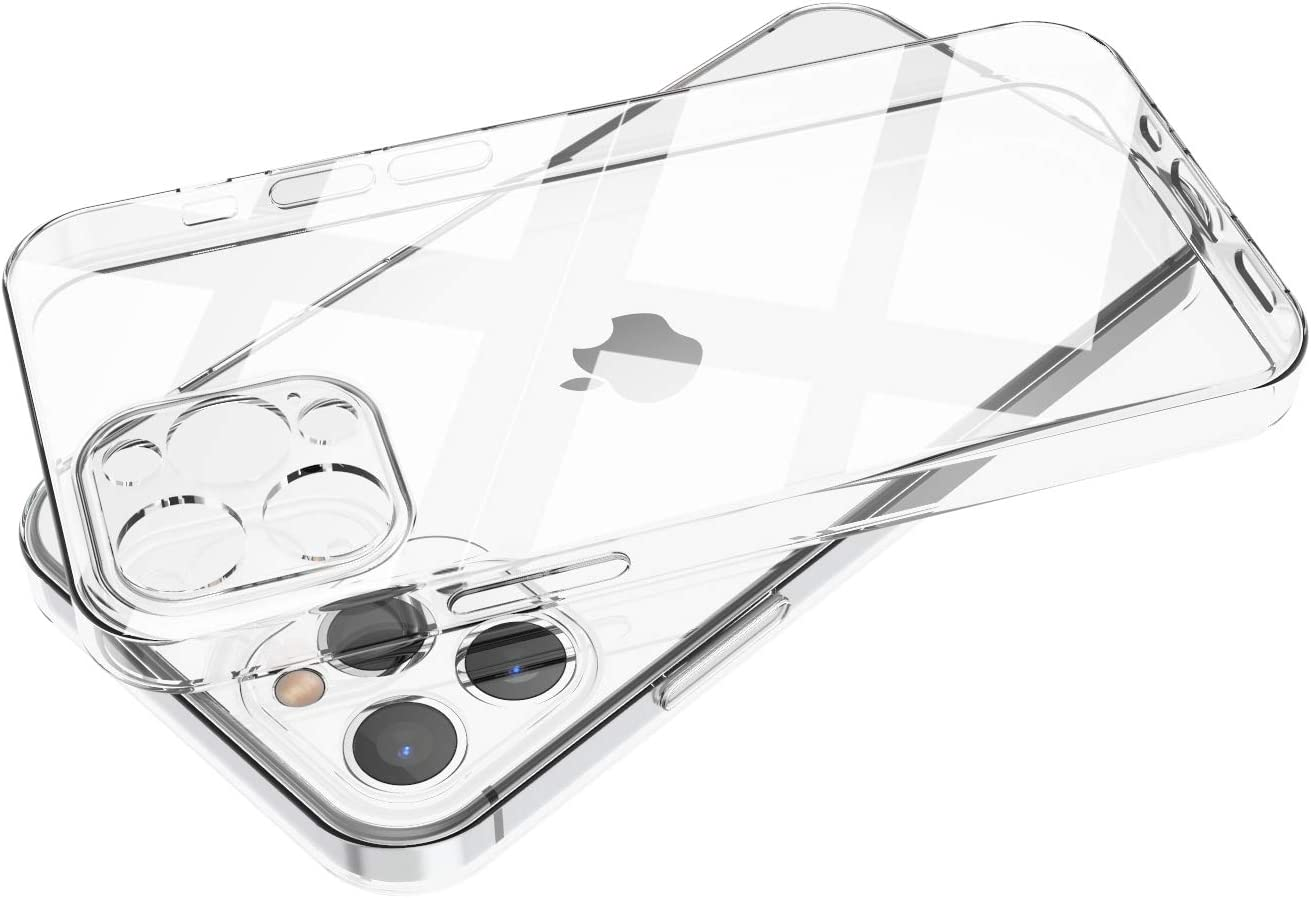 ANHONG Compatible with iPhone 12 Pro Max 6.7 inch Clear Case, [Precise Lens Cutouts] Slim Fit Ultra-Thin Soft Silicone TPU Gel Rubber Phone Cover Case