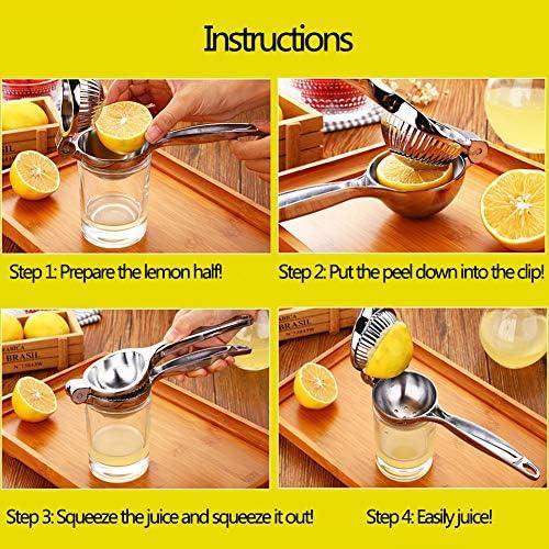 Manual Exprimidor de limón Exprimidor Extractor Soltero Mano de Prensa para Limones Agrios Naranjas y Limas Exprimidor de Frutas, Rápido y Eficaz Jugos