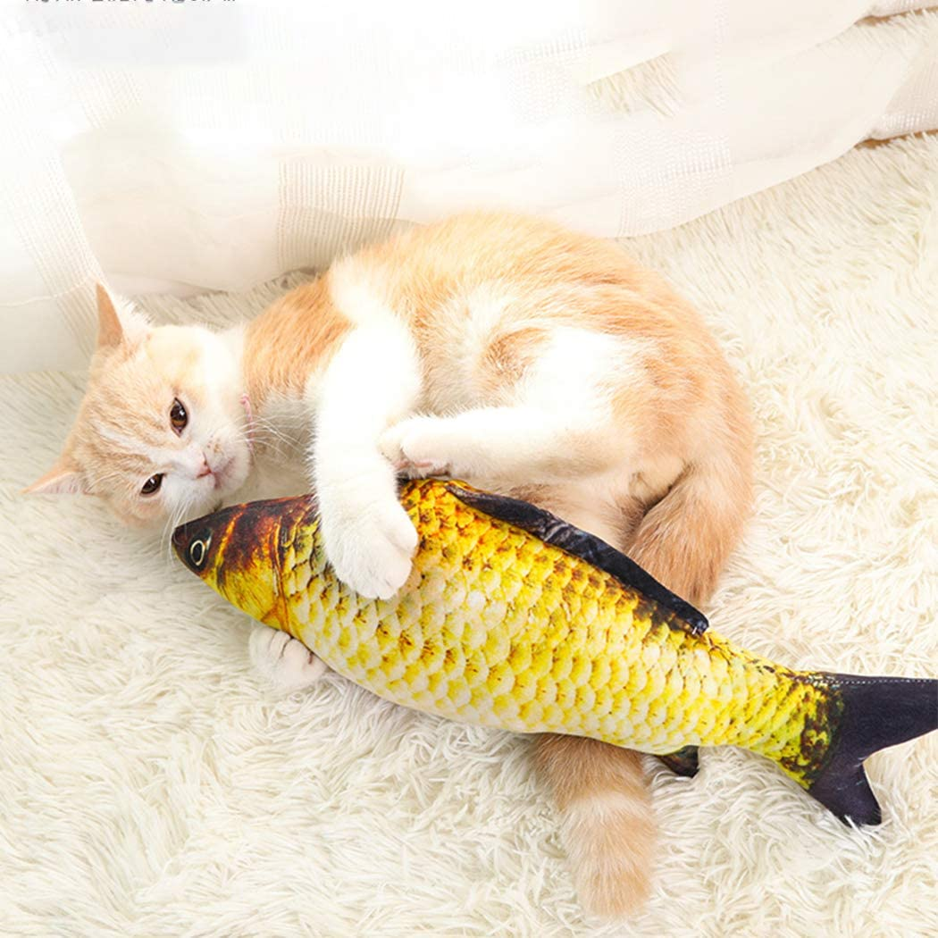 Fish Cat Toy, 2Pcs Catnip Toys Fish Flop Cat Toy Catnip Crinkle Toys, Catnip Toy Set Artificial Fish Pet for Cats Catnip Pillow Chew Bite Supplies Pets Doll Food Display or Food Photography Prop