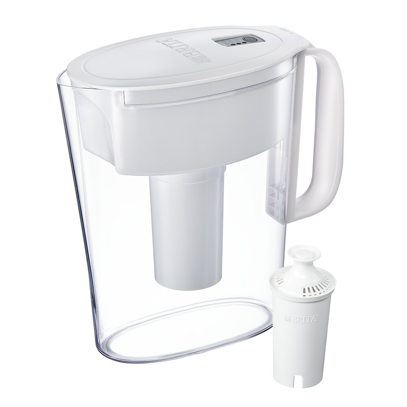 Brita Small 5 Cup Water Filter Pitcher with 1 Standard Filter, BPA Free – Metro, White