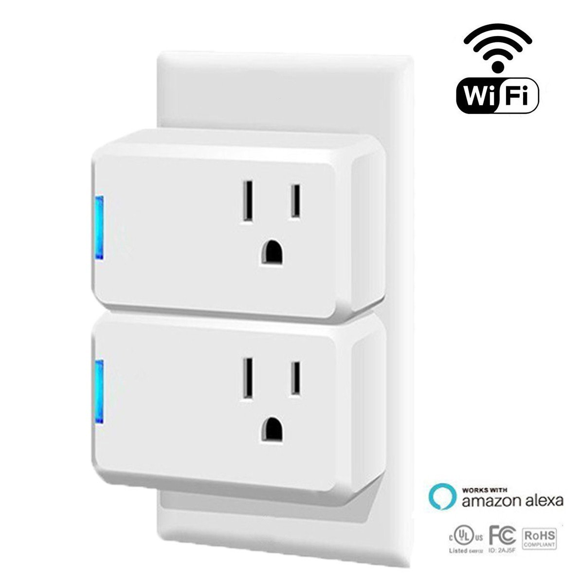 WiFi Smart Plug Google Home - Wireless Smart Socket Outlet, Works With Alexa Google Assistant, No Hub Required, Remote Control and Timing Schedule Function Via Free Android/IOS App(2 Packs) Andthere