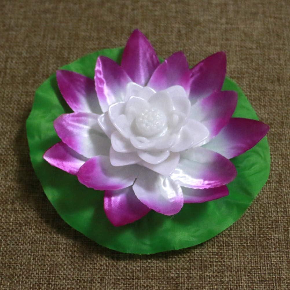 6Pcs, zuf/ällige Farbe LED Teich Licht f/ür Pool Garden Outdoor wasserdicht Lotus Flower Pool Licht Uonlytech LED Schwimmlicht