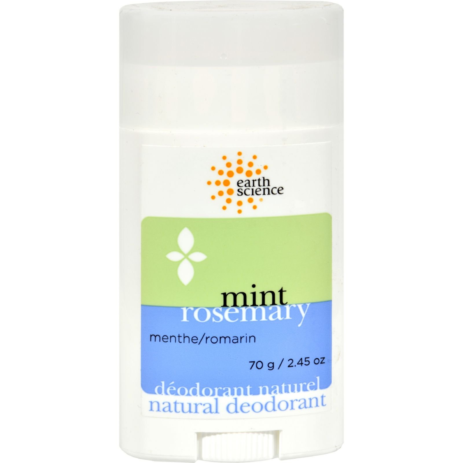 Earth Science Natural Deodorant, Rosemary & Mint - 2.45 oz