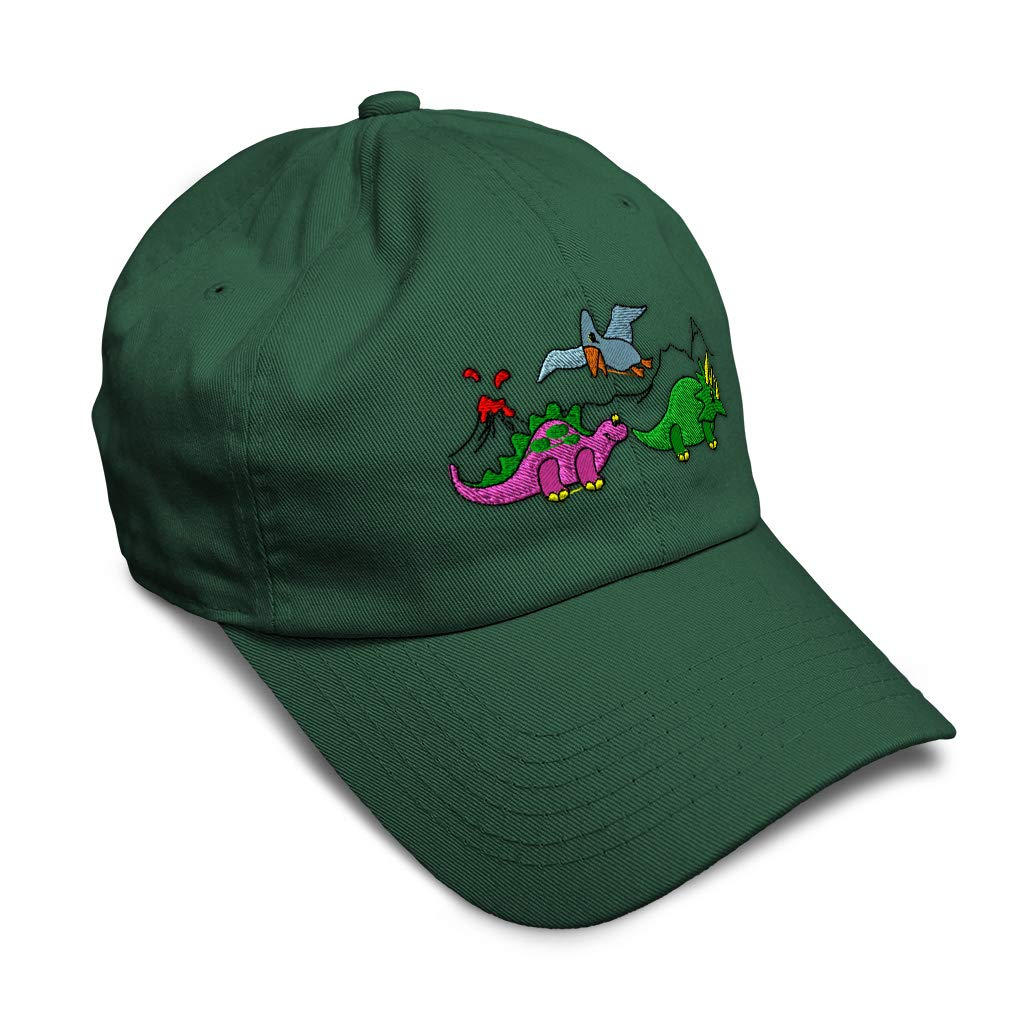 Custom Soft Baseball Cap Pre-Historic Dinosaurs Embroidery Twill Cotton