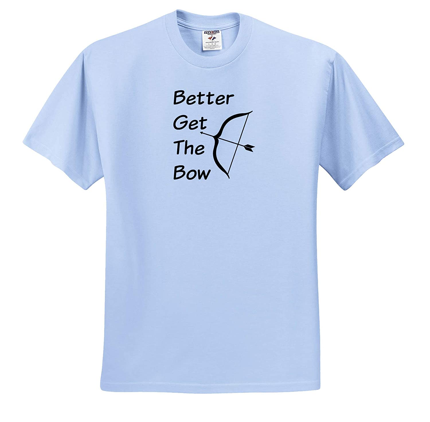 Adult T-Shirt XL 3dRose Carrie Merchant Image of Better Get The Bow ts/_309663