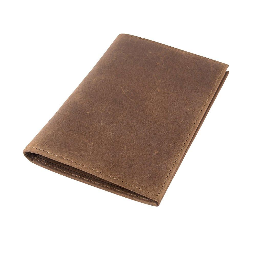 RFID Blocking Genuine Leather Passport Case Cover Holder Travel Wallet