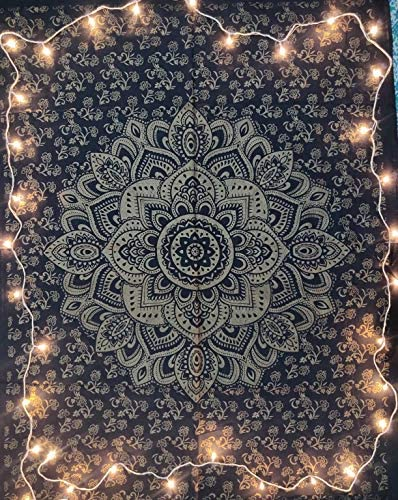 Mandala Flowers Wall Hanging Tapestry Psychedelic Bedroom Home Poster