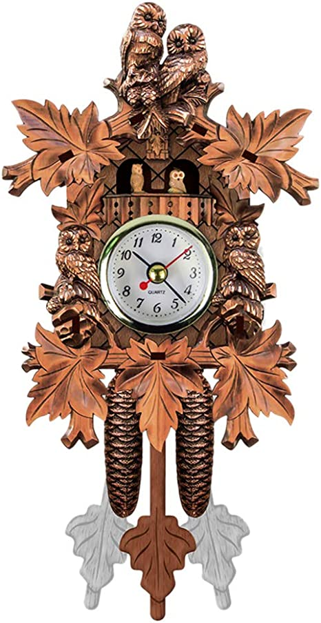 Home Room Decor Cuckoo Cuckoo Wall Clock Chime Alarm Clock Retro Clock Wooden Living Room Clock