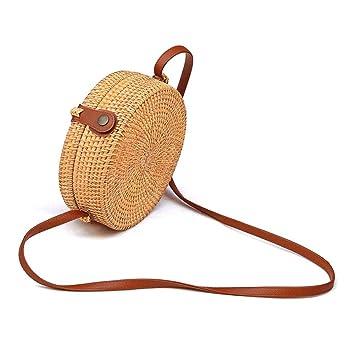 neue angebote am besten kaufen Entdecken Sie die neuesten Trends Rattan Tasche Rund Taschen Retro Strandtasche Umhängetasche ...